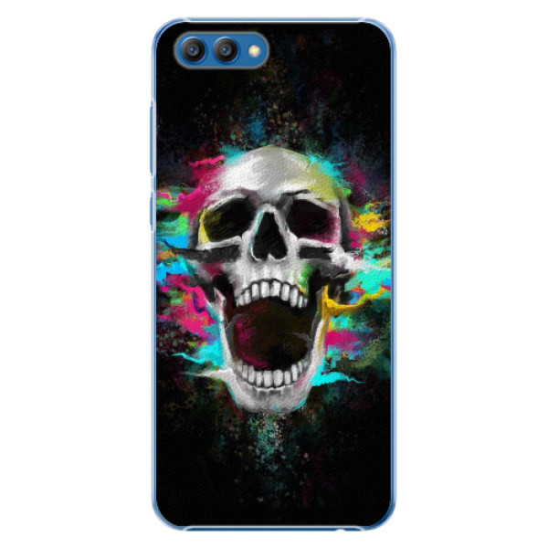 Plastové pouzdro iSaprio - Skull in Colors - Huawei Honor View 10