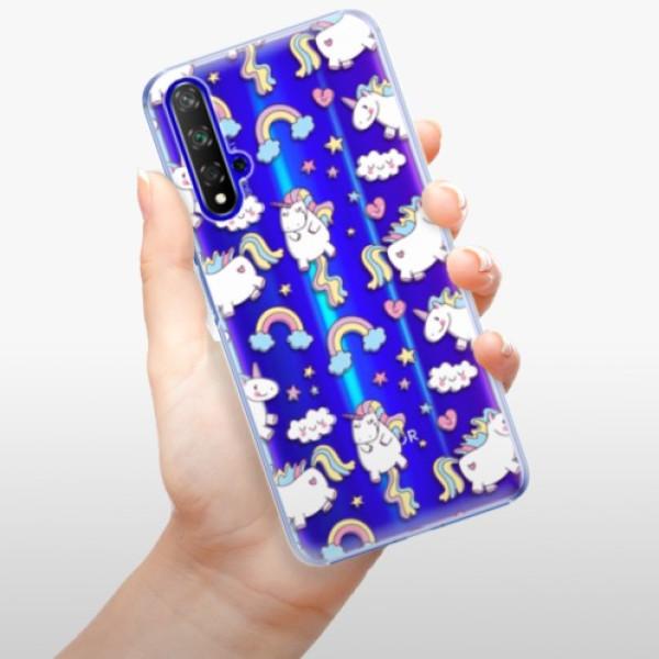 Plastové pouzdro iSaprio - Unicorn pattern 02 - Huawei Honor 20