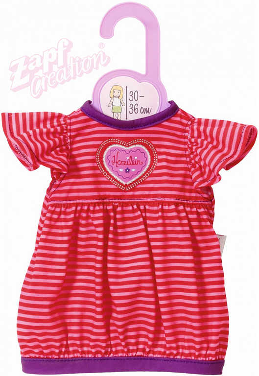 ZAPF CREATION Dolly Moda šatičky pruhované pro panenku miminko 30-36cm