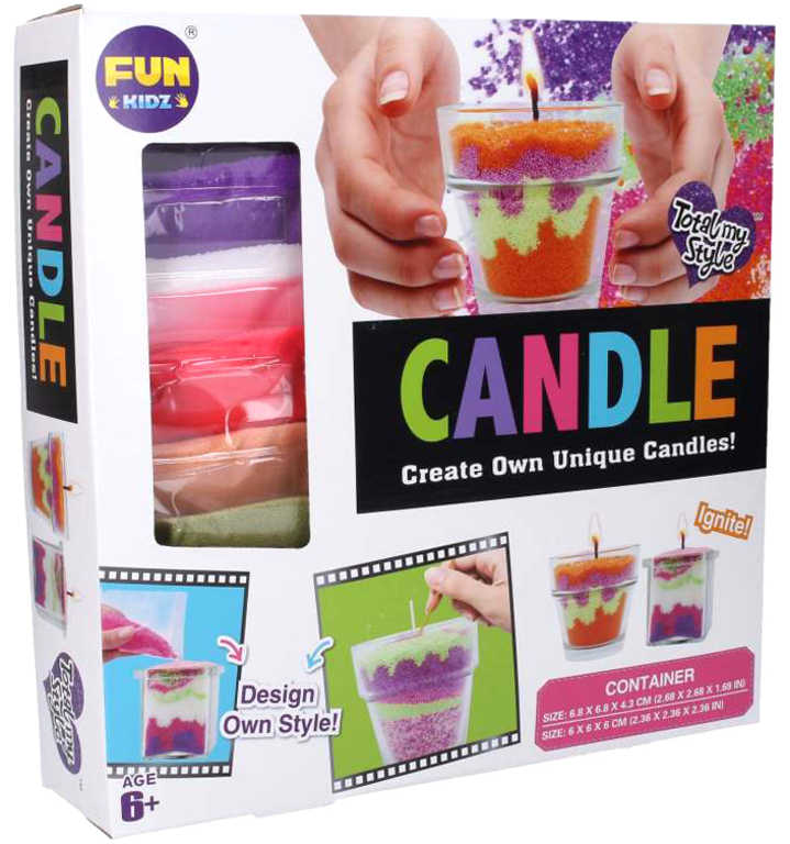 Výroba svíček ve skle kreativní set s barevnými vosky v krabici