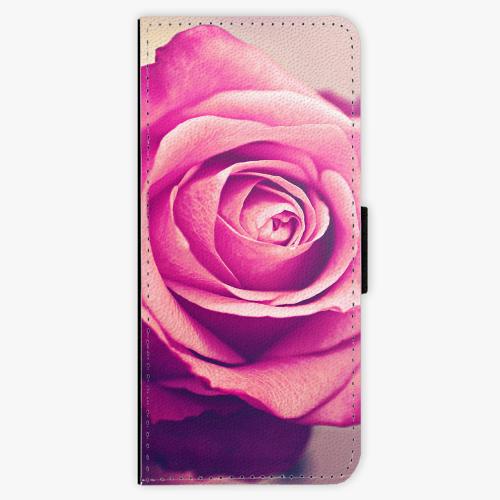 Flipové pouzdro iSaprio - Pink Rose - Samsung Galaxy J3 2016
