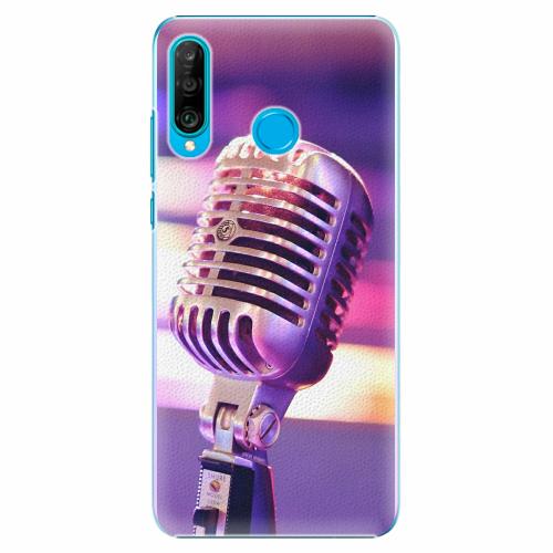 Plastový kryt iSaprio - Vintage Microphone - Huawei P30 Lite