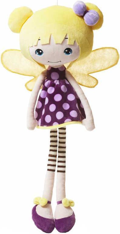 LEVENYA PLYŠ Panenka víla Layla 53cm textilní na mazlení do postýlky