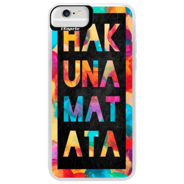 Neonové pouzdro Blue iSaprio - Hakuna Matata 01 - iPhone 6 Plus/6S Plus
