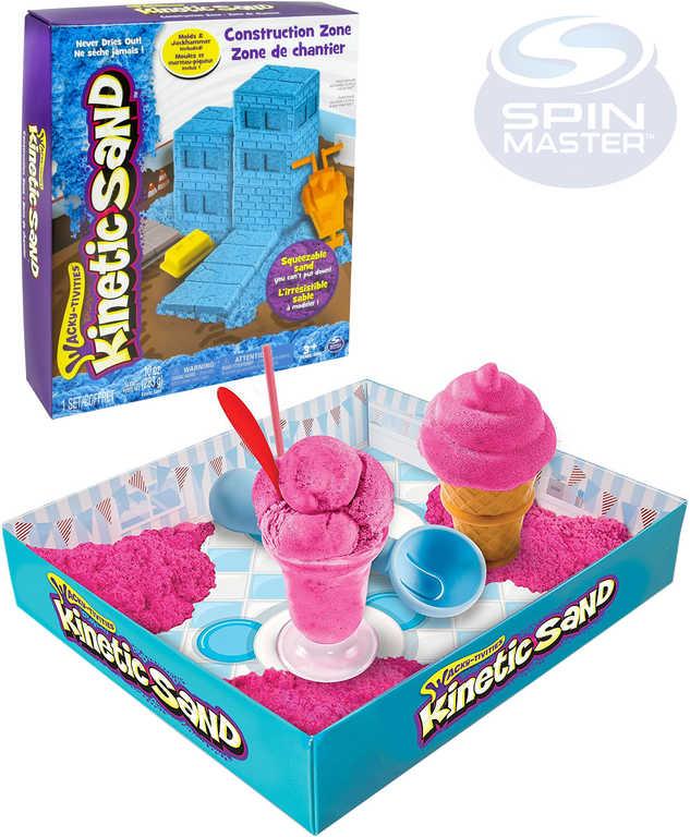 SPIN MASTER Písek magický Kinetic Sand zmrzlina / stavba - 2 druhy
