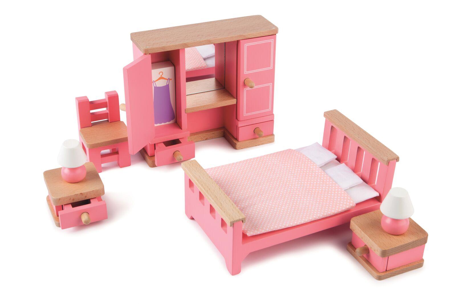 Tidlo Dřevěný nábytek ložnice světle fialovo-modrý