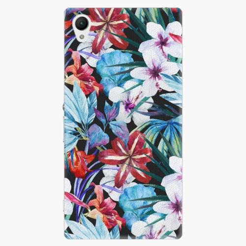 Plastový kryt iSaprio - Tropical Flowers 05 - Sony Xperia Z1