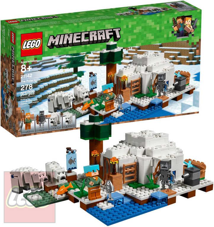LEGO MINECRAFT Iglú za polárním kruhem STAVEBNICE 21142
