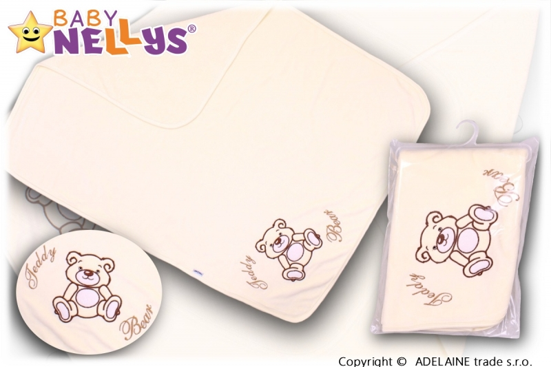 baby-nellys-deka-decka-frote-velur-medvidek-teddy-bear-smetanova