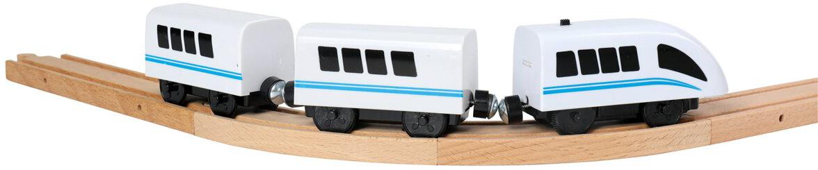 BINO Vlak osobní vysokorychlostní Viktor set mašinka se 2 vagony na baterie