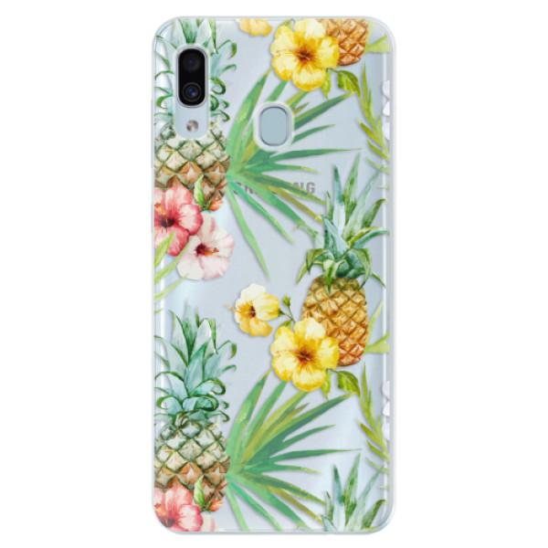 Silikonové pouzdro iSaprio - Pineapple Pattern 02 - Samsung Galaxy A30