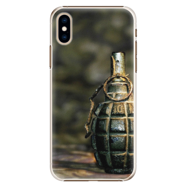 Plastové pouzdro iSaprio - Grenade - iPhone XS