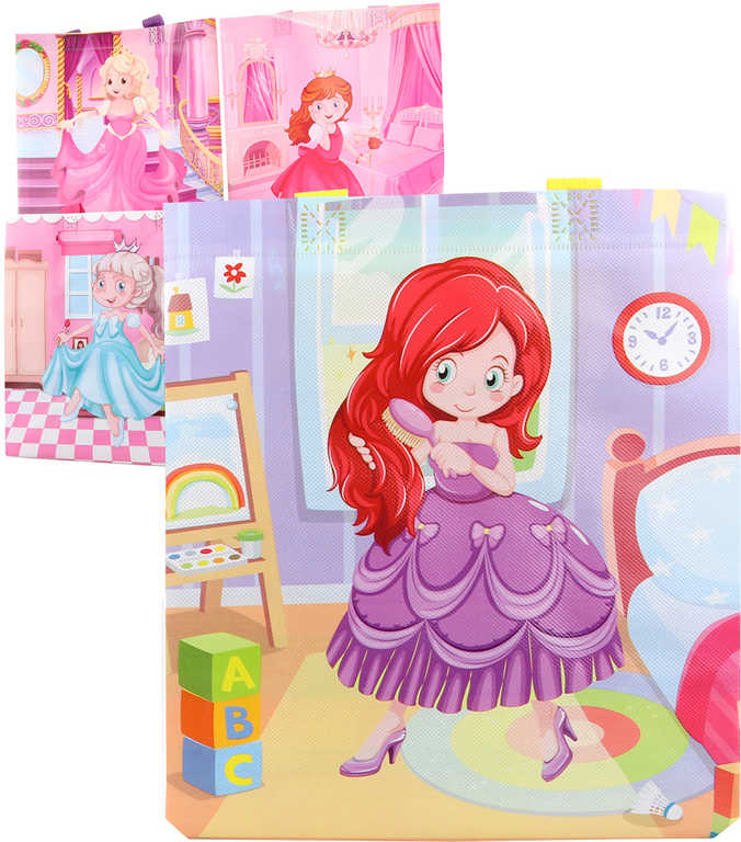 Taška dárková princezny 27x30cm různé motivy plast