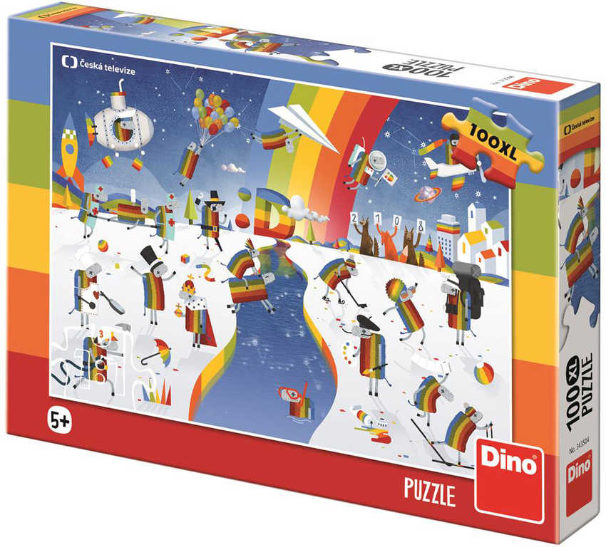 DINO Puzzle 100 dílků XL ČT Déčko ovečky 47x33cm skládačka