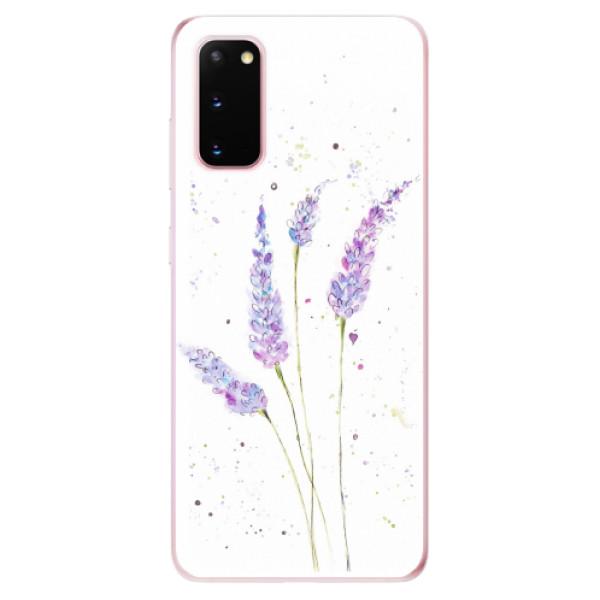 Odolné silikonové pouzdro iSaprio - Lavender - Samsung Galaxy S20