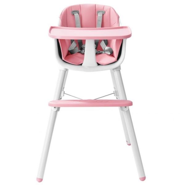 Jídelní židlička 2v1 Eco Toys - růžová