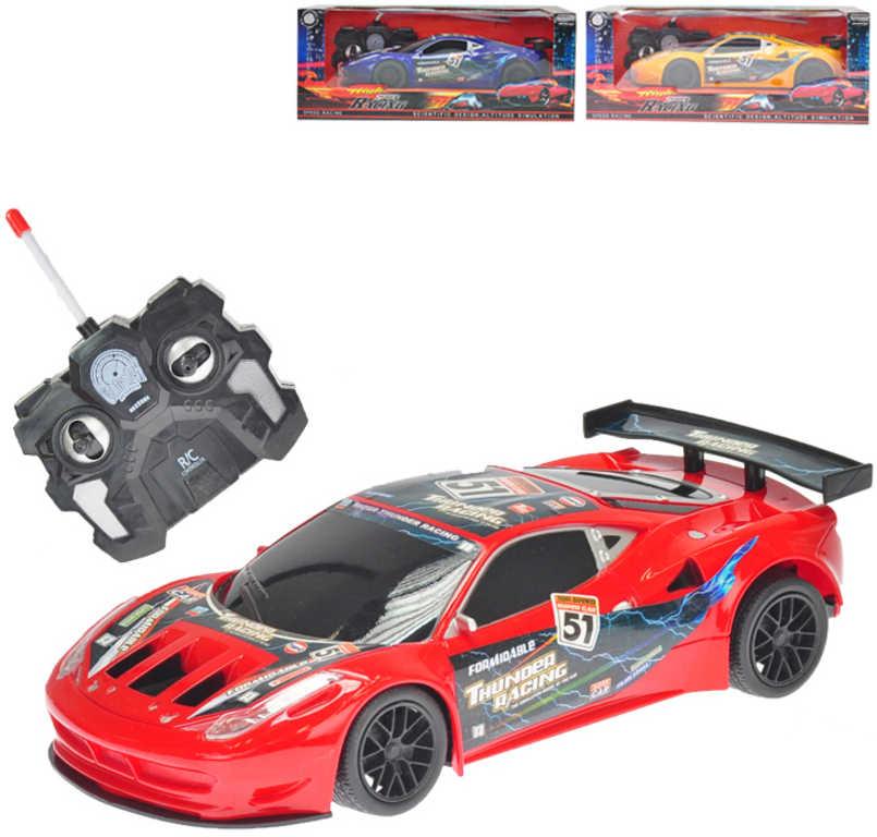 RC Auto sportovní 23cm na vyílačku 27MHz na baterie 3 barvy Světlo