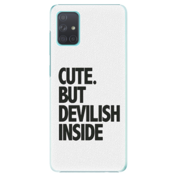 Plastové pouzdro iSaprio - Devilish inside - Samsung Galaxy A71