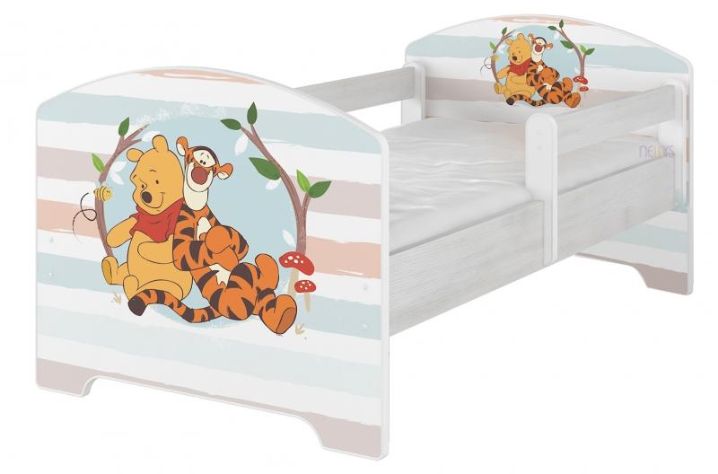 Dětská postel Disney - Medvídek PÚ proužek - 140x70