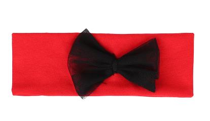 Mamatti Dětská čelenka s mašlí - červená - 0-1rok