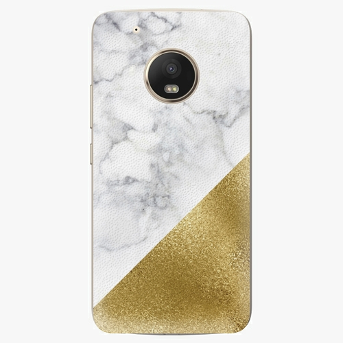 Plastový kryt iSaprio - Gold and WH Marble - Lenovo Moto G5 Plus