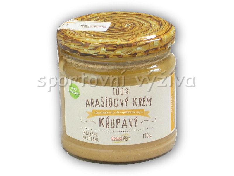 100% Arašídový krém křupavý 190g
