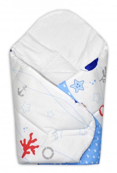 Novorozenecká zavinovačka Oceán, 75x75 cm - modrý - Klasické