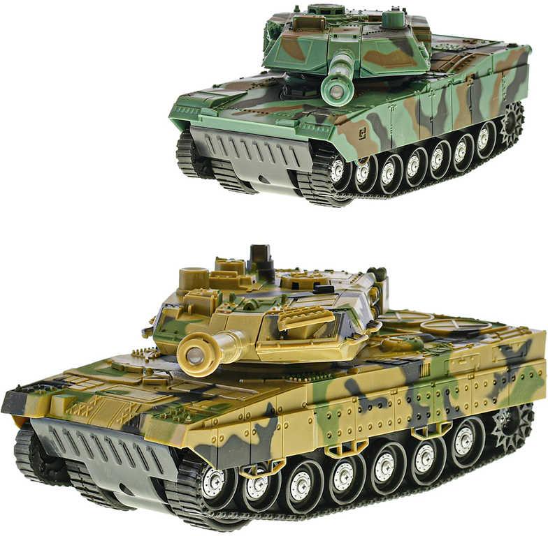 Tank 24cm obrněné vozidlo na setrvačník na baterie 2 barvy Světlo Zvuk