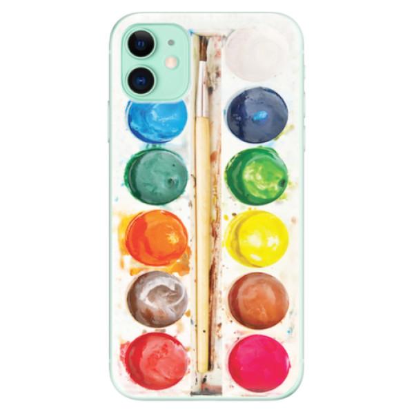Odolné silikonové pouzdro iSaprio - Watercolors - iPhone 11