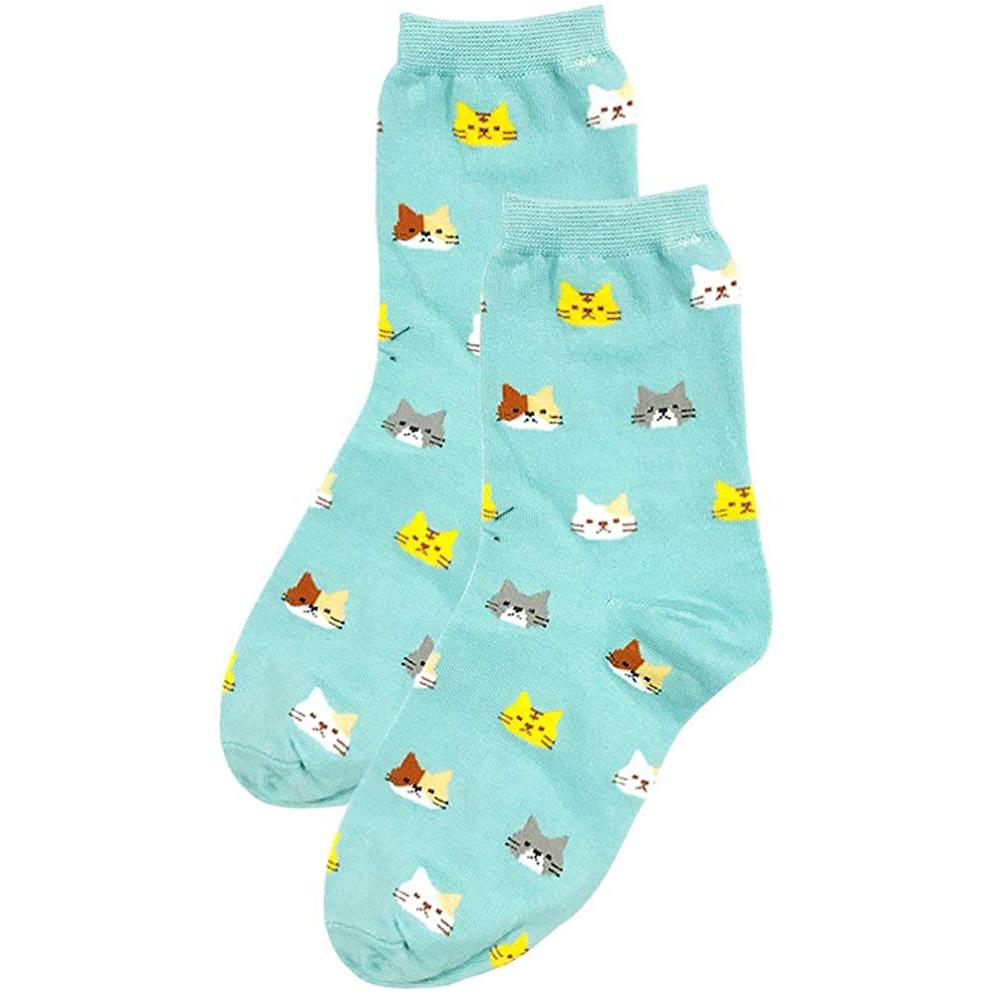 Ponožky s kočičkami - modré