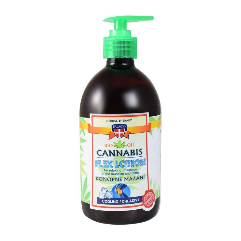 Cannabis Lotion konopné mazání s pumpičkou chladivé 500 ml