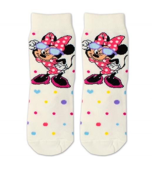 Bavlněné ponožky Disney Minnie s brýlemi - smetanové, vel. 27/30 - 27-30 vel. ponožek