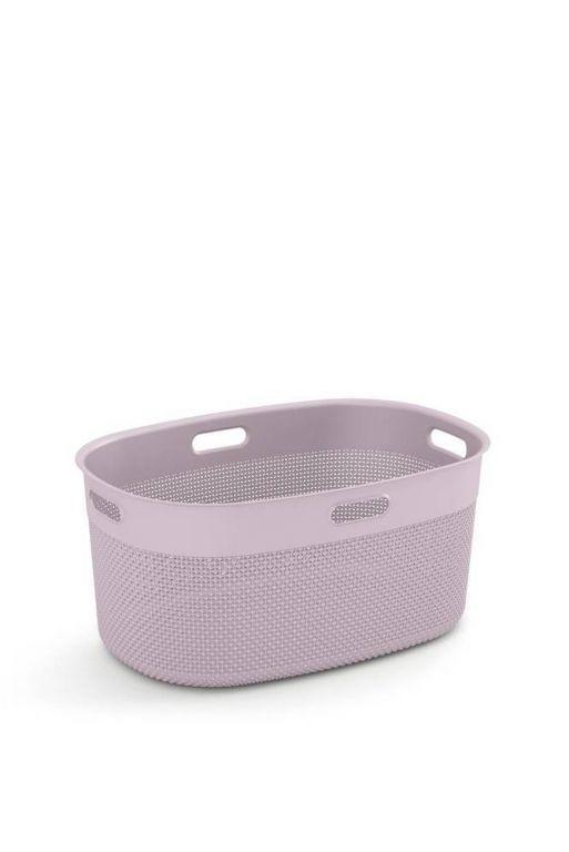 Plastový koš FILO na čisté prádlo - růžový