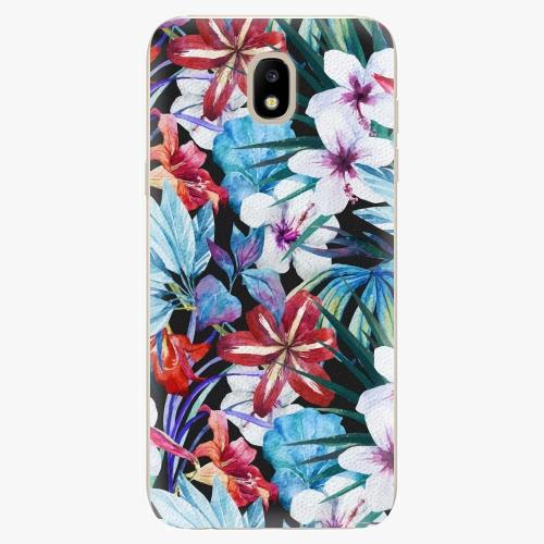 Silikonové pouzdro iSaprio - Tropical Flowers 05 - Samsung Galaxy J5 2017
