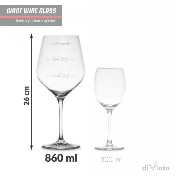 Slavnostní obří sklenice na víno - Who cares? - Krystal
