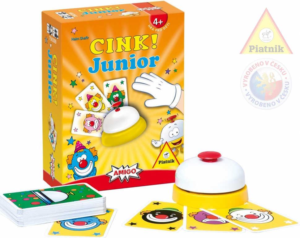 PIATNIK Hra CINK! Junior postřehová karetní *SPOLEČENSKÉ HRY*