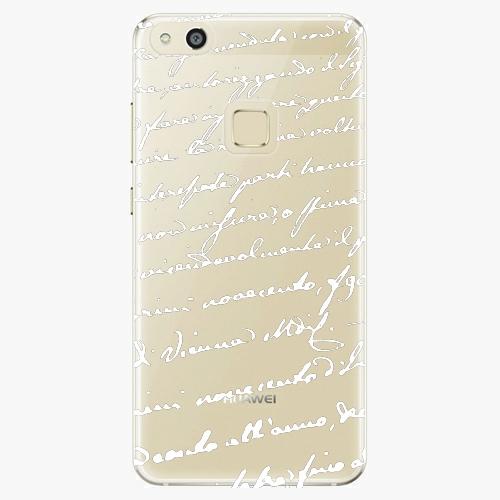 Plastový kryt iSaprio - Handwiting 01 - white - Huawei P10 Lite