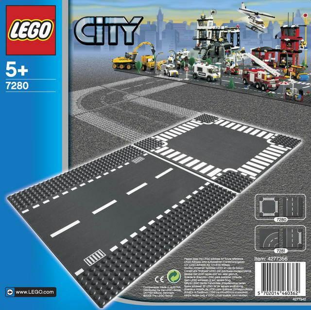 LEGO CITY Rovná silnice a křižovatka 7280