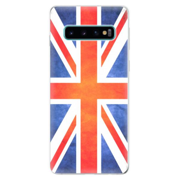 Odolné silikonové pouzdro iSaprio - UK Flag - Samsung Galaxy S10
