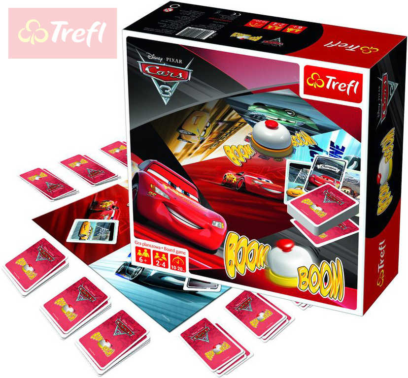 TREFL Hra Boom Boom Cars 3 (Auta) Cink! *SPOLEČENSKÉ HRY*