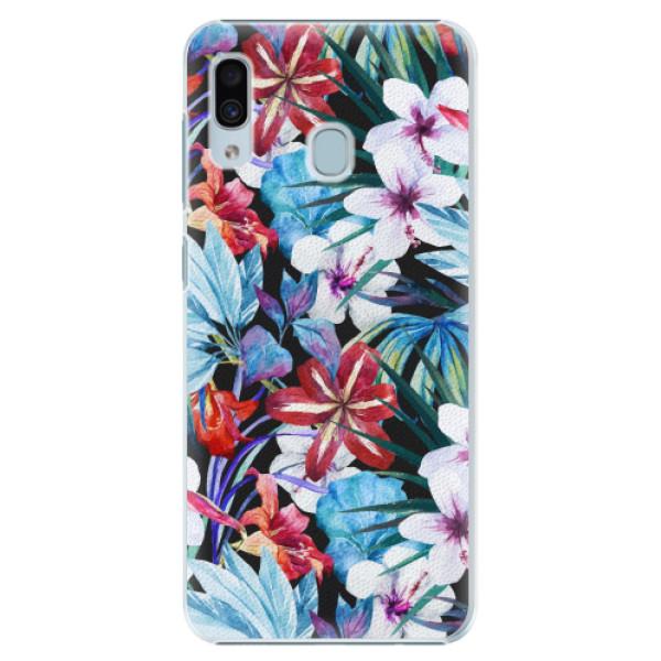 Plastové pouzdro iSaprio - Tropical Flowers 05 - Samsung Galaxy A20