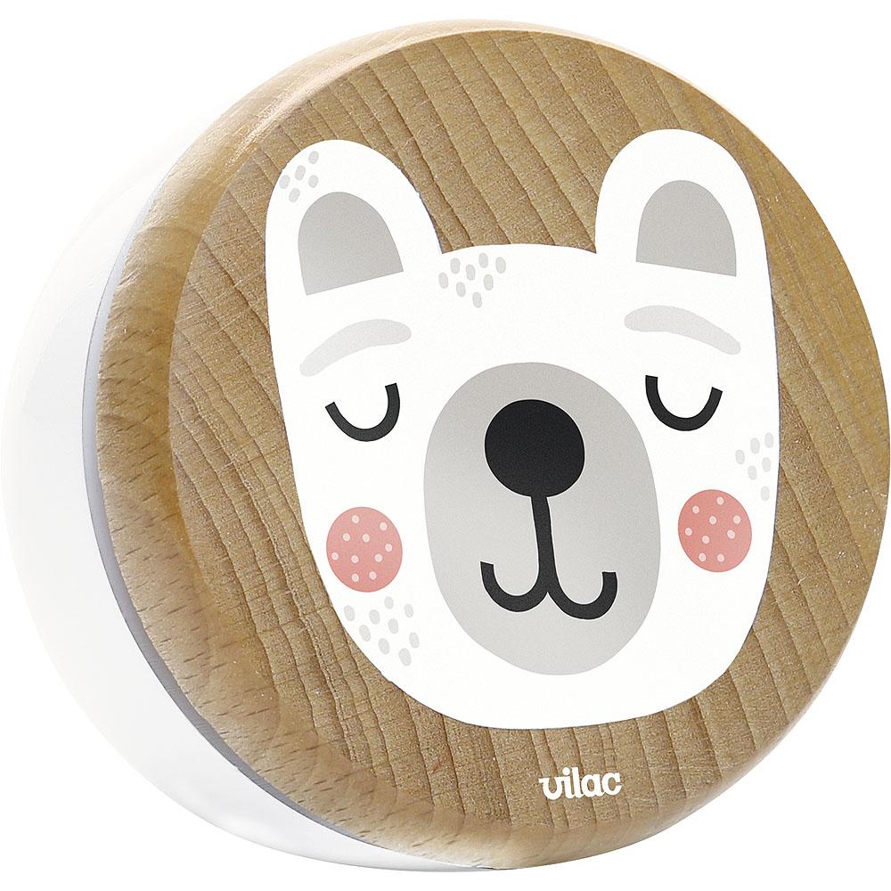 Vilac Dřevěná hrací skříňka medvídek
