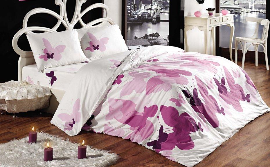 Prodloužené povlečení bavlna 140x220, 70x90cm Butterfly, Výběr zapínání: zipový uzávěr