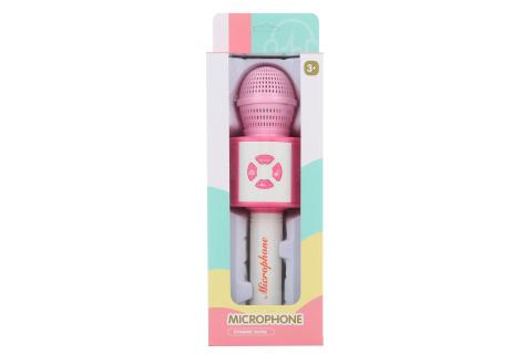 Mikrofon na baterie růžový