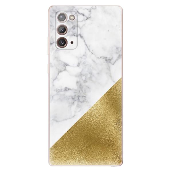 Odolné silikonové pouzdro iSaprio - Gold and WH Marble - Samsung Galaxy Note 20