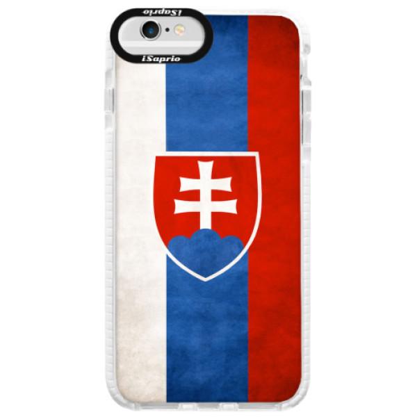 Silikonové pouzdro Bumper iSaprio - Slovakia Flag - iPhone 6 Plus/6S Plus