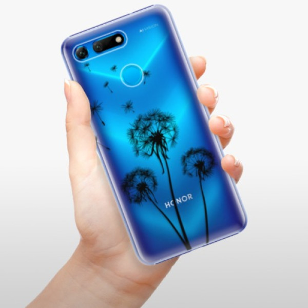 Plastové pouzdro iSaprio - Three Dandelions - black - Huawei Honor View 20