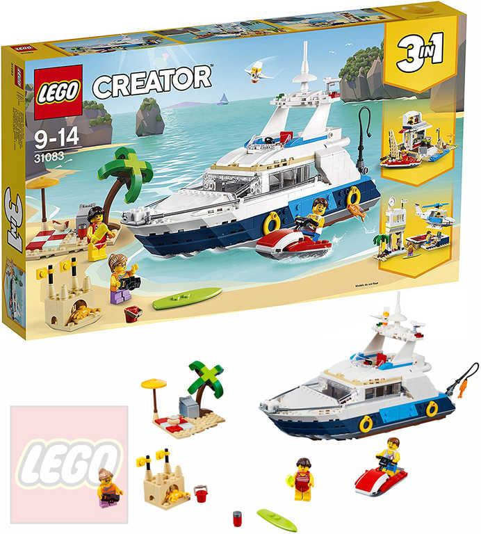 LEGO CREATOR Dobrodružná plavba 3v1 31083 STAVEBNICE