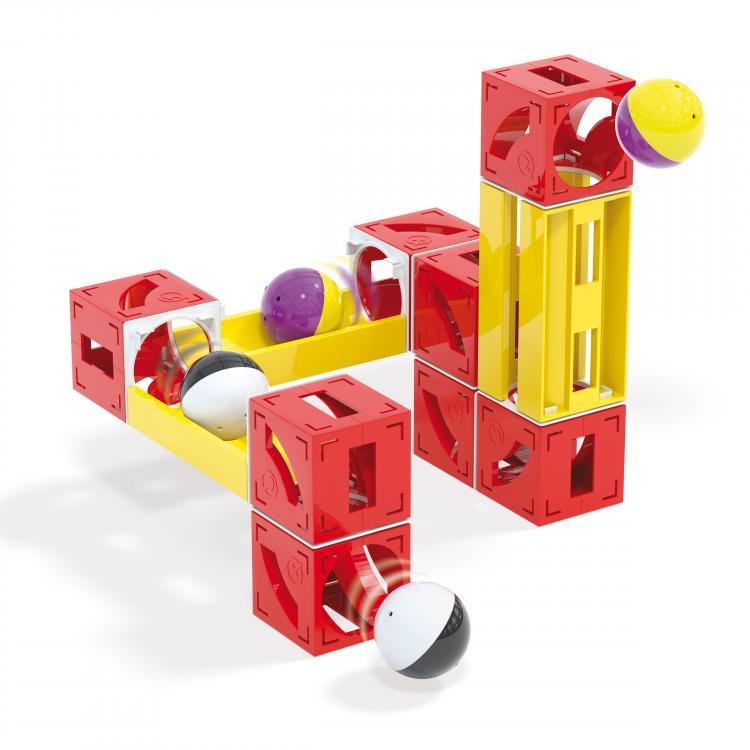 Quercetti Cuboga Basic kuličková dráha 28 ks