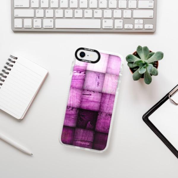 Silikonové pouzdro Bumper iSaprio - Purple Squares - iPhone SE 2020